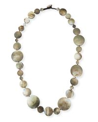 Viktoria Hayman | Green Long Shell Disc Necklace | Lyst