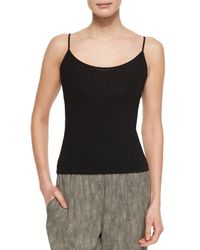 Eileen Fisher | Black Classic Jersey Camisole | Lyst