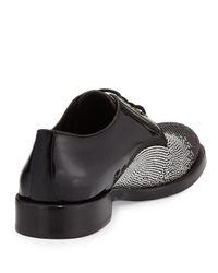 Jimmy Choo - Black Degrade Studded Lace-up Shoe for Men - Lyst