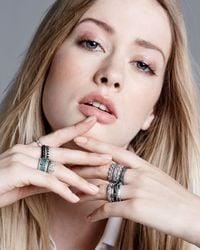 Armenta - Metallic Scalloped Half Crown Silver Ring for Men - Lyst