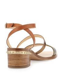 Jimmy Choo | Metallic Miko Strappy Leather City Sandals | Lyst