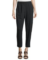 Lafayette 148 New York - Black Piped Track Pants - Lyst