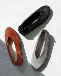Eileen Fisher - Gray Canoe Suede Ballet Flats - Lyst