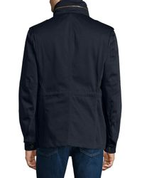 Burberry Brit - Blue Sympson Button-down Field Jacket for Men - Lyst