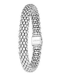 Lagos - Metallic Caviar Oval Rope Bracelet - Lyst