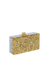 Edie Parker - Metallic Jean Half-and-half Confetti Clutch Bag - Lyst