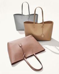 Saint Laurent - Natural Large Shopping Tota Bag - Lyst
