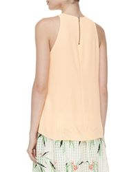 Elizabeth and James - Orange Cheridah Chiffon Overlay Blouse - Lyst
