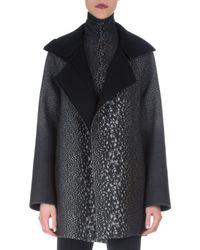 Akris - Gray Way-print Raglan-sleeve Coat - Lyst