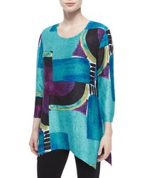 Berek | Multicolor 3/4-sleeve Abstract-print Tunic | Lyst