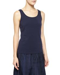 NIC+ZOE - Blue Perfect Jersey Scoop-neck Tank - Lyst