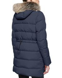 Moncler - Gray Fragonette Fur-trim Puffer Coat - Lyst