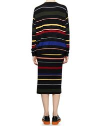 Stella McCartney - Multicolor Crewneck Striped Knit Top - Lyst