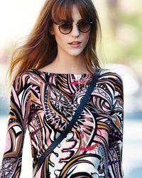 Kyme - Metallic Matti Round Mirror Sunglasses - Lyst