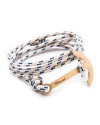 Miansai   Blue Modern Anchor Rope Bracelet for Men   Lyst