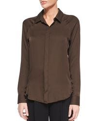 Theory | Brown Lanali Modern Long-sleeve Top | Lyst