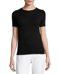 Theory | Black Tolleree Short-sleeve Cashmere Sweater | Lyst