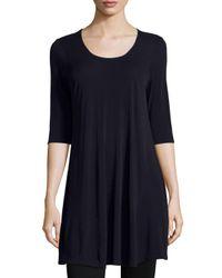 Eileen Fisher | Blue Silk-Blend Tunic Dress | Lyst