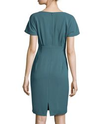 Lafayette 148 New York | Blue Marion Short-sleeve Sheath Dress | Lyst