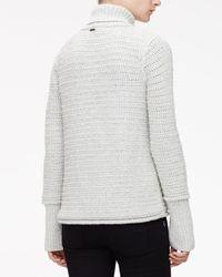Wes Gordon - Metallic Textured Chain Knit Turtleneck Sweater - Lyst