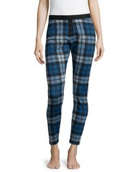 UGG | Blue Whitney Plaid Cotton-Blend Leggings | Lyst