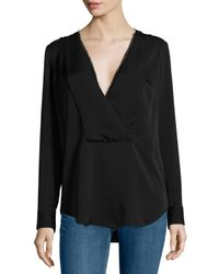Theory | Black Ramalla Reversible Long-sleeve Top | Lyst