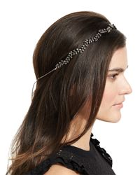 Jennifer Behr - Gray Vine Circlet Crystal Headband - Lyst