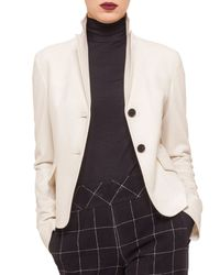 Akris Punto - Natural Two-button Flap-pocket Blazer - Lyst
