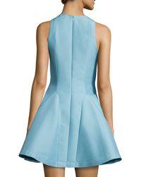 Halston | Blue Sleeveless Fit & Flare Dress | Lyst