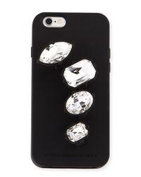 Stella McCartney | Black Rhinestone Knuckle Ring Iphone 6 Case | Lyst