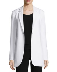 Theory - Natural Geltha Admiral Crepe Blazer - Lyst