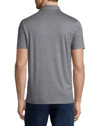 Michael Kors   Gray Cotton/silk Short-sleeve Polo Shirt for Men   Lyst