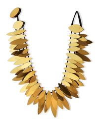 Viktoria Hayman | Metallic Gold Foil Layered Petal Necklace | Lyst