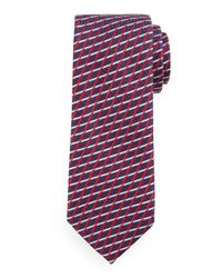 Ermenegildo Zegna - Red Geometric Diamond-lattice Print Tie for Men - Lyst
