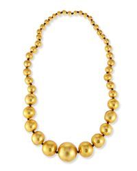 Viktoria Hayman | Metallic Statement Gold Foil Beaded Necklace for Men | Lyst