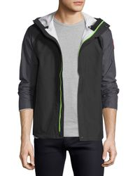 Canada Goose - Gray Alderwood Hooded Nylon Shell Jacket for Men - Lyst