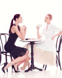 Lela Rose - Black Sleeveless Circle-lace Mini Dress - Lyst