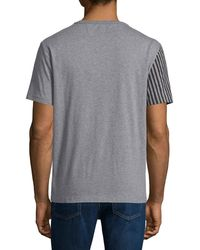 Burberry Brit - Gray Franklin Graphic-check Short-sleeve T-shirt for Men - Lyst