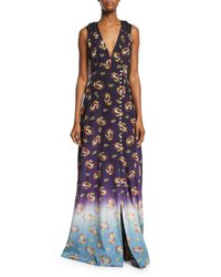 Marc Jacobs | Blue Victorian Grunge Sleeveless Maxi Dress | Lyst