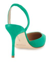 Manolo Blahnik - Blue Carolyne High-heel Suede Halter Pump - Lyst