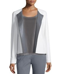 Lafayette 148 New York | White Flynn Leather Jacket | Lyst