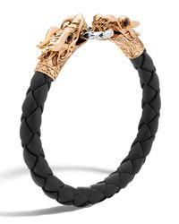 John Hardy | Black Legends Naga Dragon Leather Bracelet for Men | Lyst
