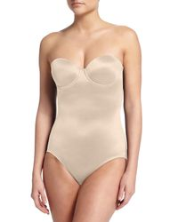 Tc Fine Intimates | Natural Sheer Bodybriefer Strapless Shaping Bodysuit | Lyst