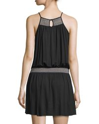Soft Joie - Black Dhara Sleeveless Dress With Smocked Detail - Lyst