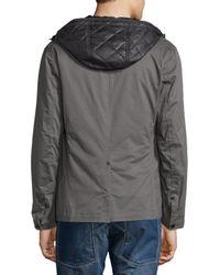 G-Star RAW - Gray Bronson Hooded Blazer W/removable Liner for Men - Lyst