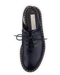 Stella McCartney | Blue Faux-leather Slingback Oxford | Lyst