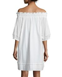 Apiece Apart - White Felina Off-the-shoulder Dress - Lyst