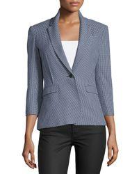 ATM - Blue 3/4-sleeve Jacquard Schoolboy Jacket - Lyst