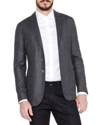 Giorgio Armani | Gray Basketweave Wool/cashmere Jacket for Men | Lyst