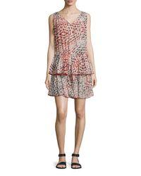 Tryb212 - Gray Smith Sleeveless Peplum Dress - Lyst